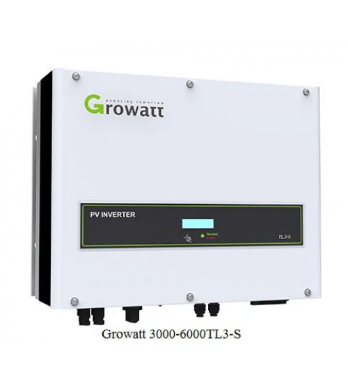 Biến tần hòa lưới năng lượng mặt trời 3-6 kW, 3 pha 2MPPT Growatt 3000-6000TL3-S